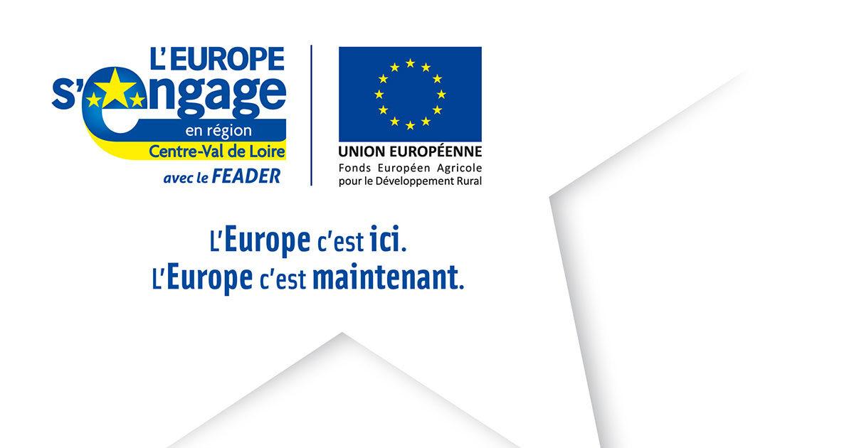 Logo du programme leader, l'europe s'engage en region centre-val de loire