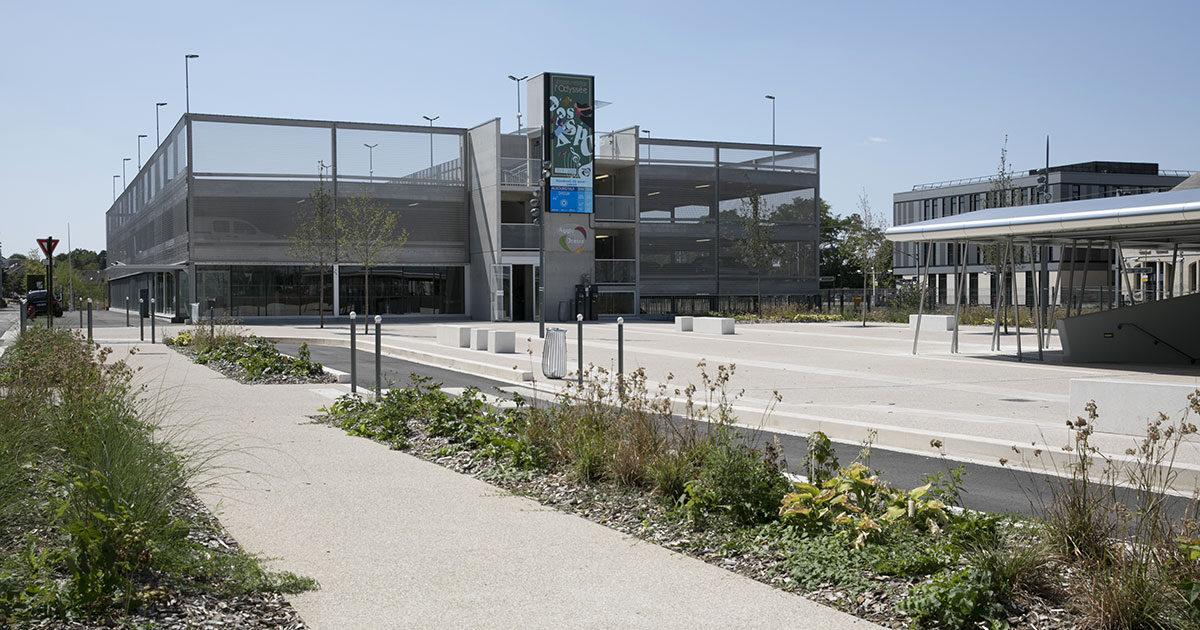 Photo du parking pole gare a dreux