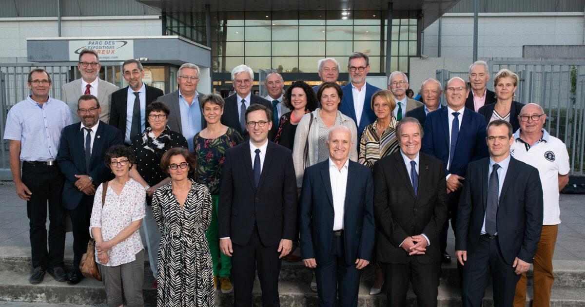 Photo des membres du Bureau Communautaire de l'Agglo du Pays de Dreux