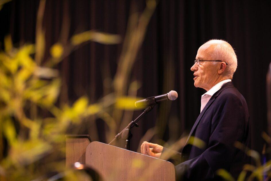 Discours sur scene du Président de l'Agglo du Pays de Dreux, Gerard Sourisseau