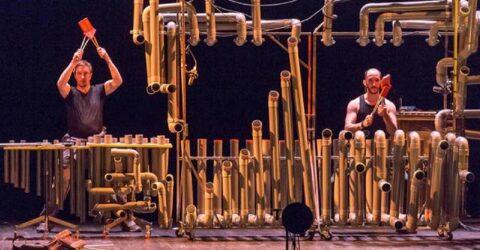 Photo sur scène de Pierre Blavette et Jeremie Boudsocq