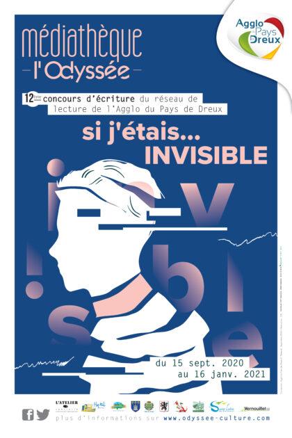 Affiche du concours d'écriture de la Mediatheque l'Odyssee